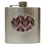 Pearly Pattern  Hip Flask (6 oz) Front