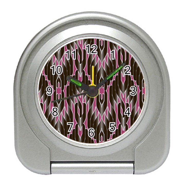 Pearly Pattern  Travel Alarm Clocks