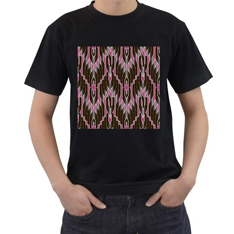 Pearly Pattern  Men s T-Shirt (Black) (Two Sided)