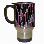 Pearly Pattern  Travel Mugs (White) Left
