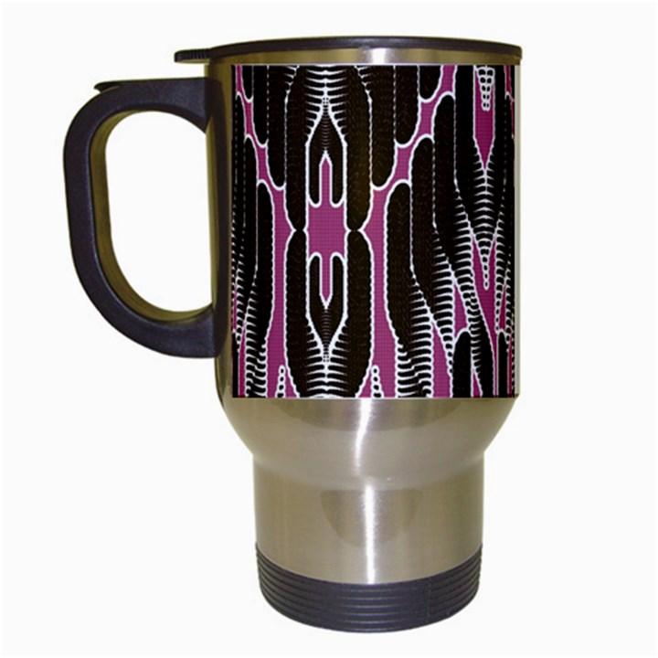 Pearly Pattern  Travel Mugs (White)