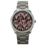 Pearly Pattern  Sport Metal Watch Front