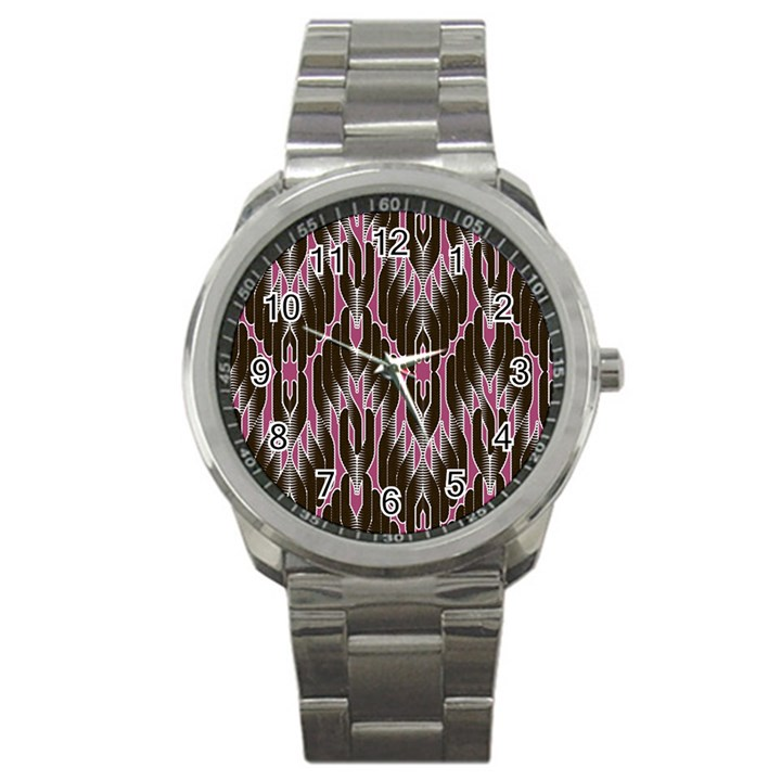 Pearly Pattern  Sport Metal Watch