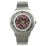 Pearly Pattern  Stainless Steel Watch Front