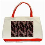 Pearly Pattern  Classic Tote Bag (Red) Front