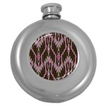 Pearly Pattern  Round Hip Flask (5 oz) Front
