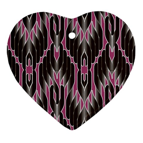 Pearly Pattern  Heart Ornament (2 Sides)