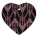 Pearly Pattern  Heart Ornament (2 Sides) Back