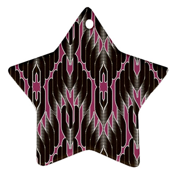 Pearly Pattern  Star Ornament (Two Sides)