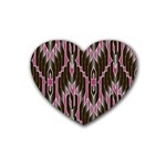 Pearly Pattern  Heart Coaster (4 pack)  Front