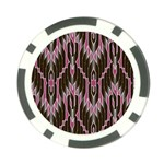 Pearly Pattern  Poker Chip Card Guards Front