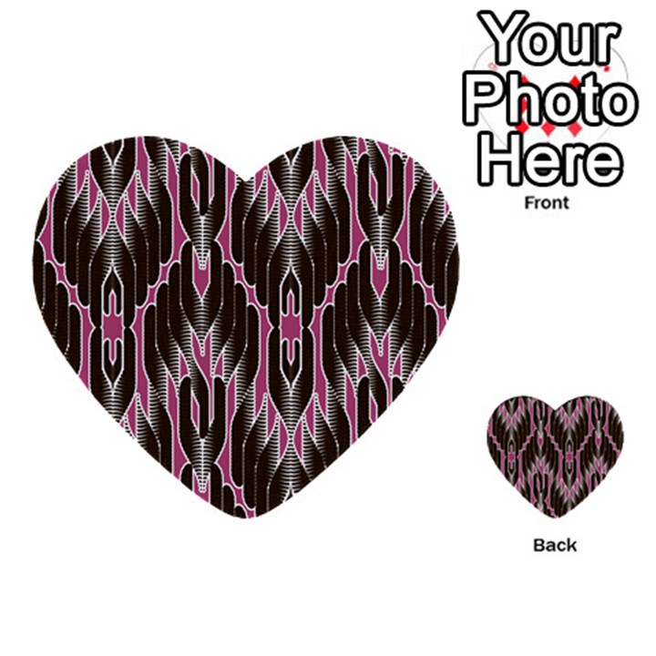 Pearly Pattern  Multi-purpose Cards (Heart)