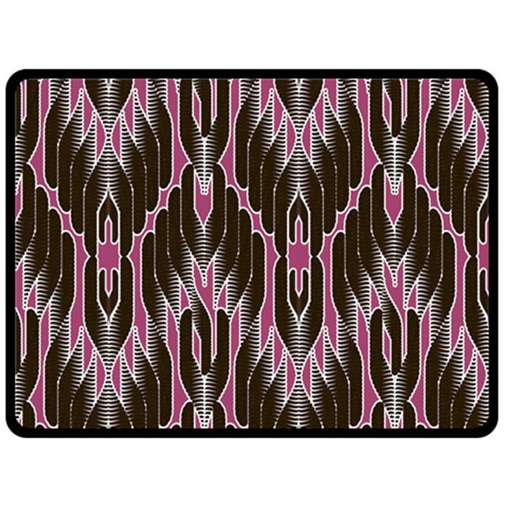 Pearly Pattern  Fleece Blanket (Large)