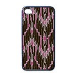 Pearly Pattern  Apple iPhone 4 Case (Black) Front