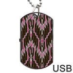 Pearly Pattern  Dog Tag USB Flash (One Side) Front