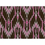 Pearly Pattern  LOVE 3D Greeting Card (7x5) Back