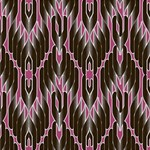 Pearly Pattern  Twin Heart Bottom 3D Greeting Card (8x4) Inside