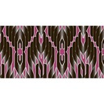 Pearly Pattern  Twin Heart Bottom 3D Greeting Card (8x4) Back