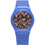 Pearly Pattern  Round Plastic Sport Watch (S) Front