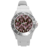 Pearly Pattern  Round Plastic Sport Watch (L) Front