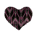 Pearly Pattern  Standard 16  Premium Flano Heart Shape Cushions Front