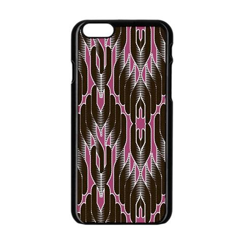 Pearly Pattern  Apple iPhone 6/6S Black Enamel Case