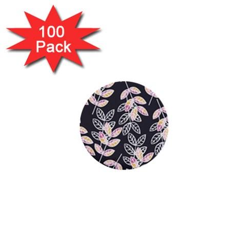 Winter Beautiful Foliage  1  Mini Buttons (100 pack)