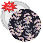 Winter Beautiful Foliage  3  Buttons (100 pack)  Front