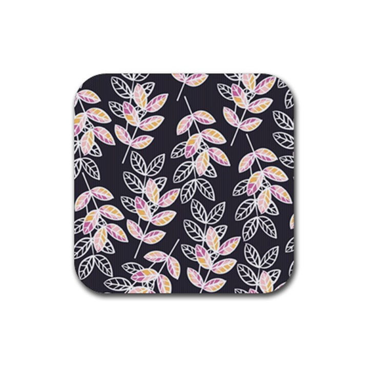 Winter Beautiful Foliage  Rubber Coaster (Square)
