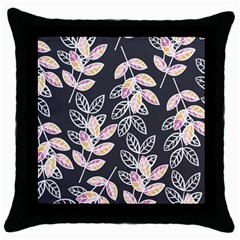 Winter Beautiful Foliage  Throw Pillow Case (black)