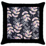 Winter Beautiful Foliage  Throw Pillow Case (Black) Front