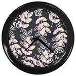 Winter Beautiful Foliage  Wall Clocks (Black) Front