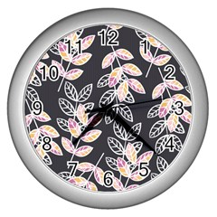 Winter Beautiful Foliage  Wall Clocks (silver)