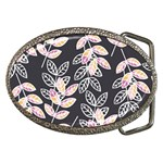 Winter Beautiful Foliage  Belt Buckles Front