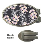 Winter Beautiful Foliage  Money Clips (Oval)  Front