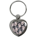 Winter Beautiful Foliage  Key Chains (Heart)  Front
