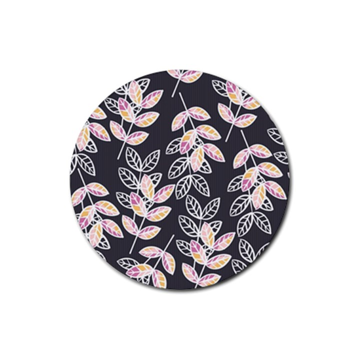 Winter Beautiful Foliage  Rubber Round Coaster (4 pack)