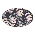 Winter Beautiful Foliage  Oval Magnet Front
