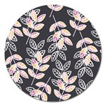 Winter Beautiful Foliage  Magnet 5  (Round) Front