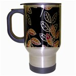 Winter Beautiful Foliage  Travel Mug (Silver Gray) Left