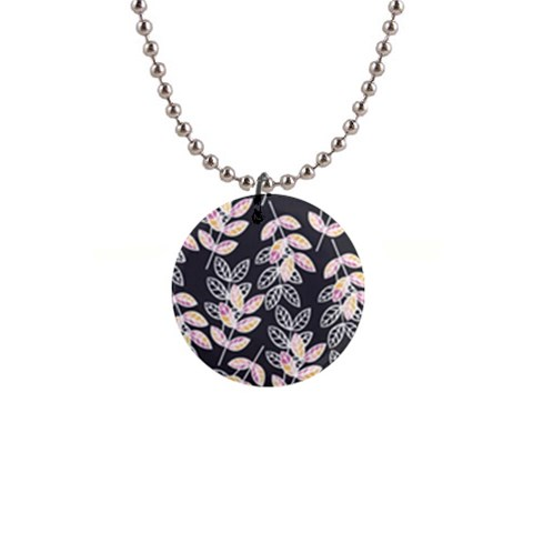 Winter Beautiful Foliage  Button Necklaces
