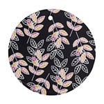 Winter Beautiful Foliage  Round Ornament (Two Sides)  Back