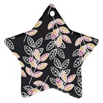 Winter Beautiful Foliage  Star Ornament (Two Sides)  Back