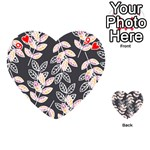 Winter Beautiful Foliage  Playing Cards 54 (Heart)  Front - Heart9
