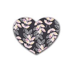 Winter Beautiful Foliage  Heart Coaster (4 Pack)