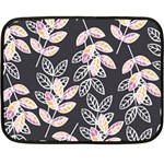Winter Beautiful Foliage  Fleece Blanket (Mini) 35 x27 Blanket