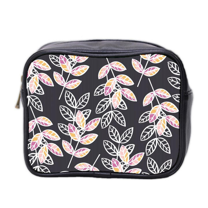 Winter Beautiful Foliage  Mini Toiletries Bag 2-Side