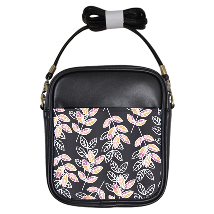Winter Beautiful Foliage  Girls Sling Bags