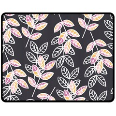Winter Beautiful Foliage  Fleece Blanket (Medium)