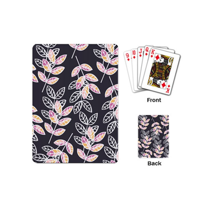Winter Beautiful Foliage  Playing Cards (Mini)